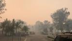 Bushfire Smoke seen at Kempsey, Willawarrin, where a man's body was found overnight.