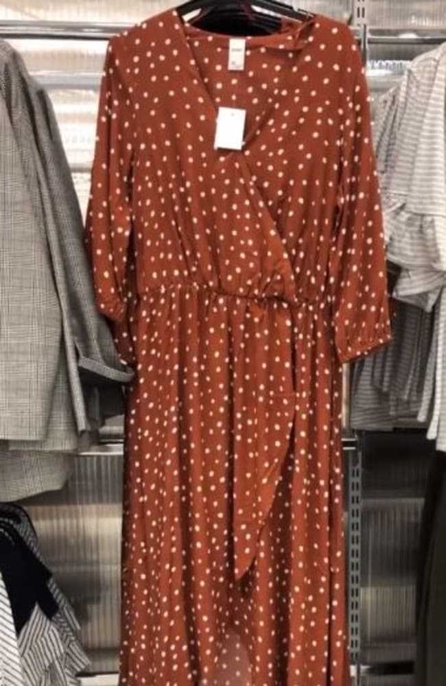 a20ff121b6c Kmart fashion  The  25 orange polka dot dress flying off the shelves