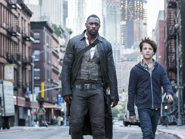 Roland (Idris Elba) and Jake (Tom Taylor) switch between worlds in The Dark Tower.