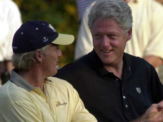 Greg Norman is also friendly with former US President Bill Clinton through golf as well.