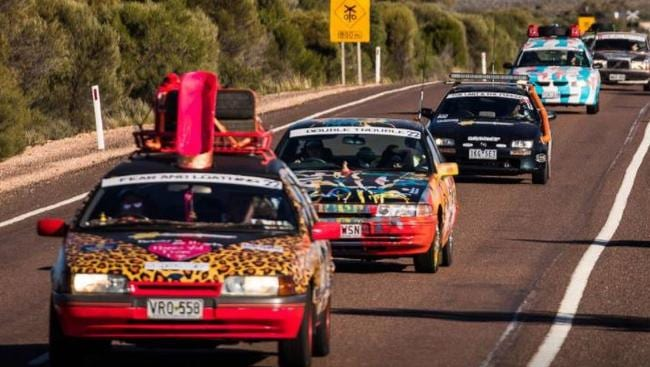 Shabby vehicles of all shapes and sizes arrive in Cairns to