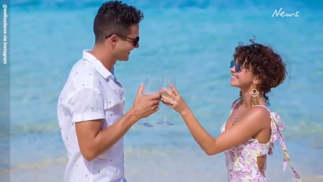 The moment Adam Wells proposes to Sarah Hyland