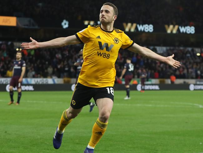 Diogo Jota was central to Wolverhampton's win.