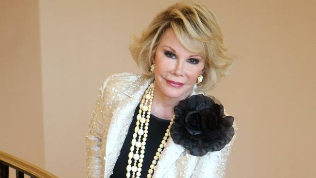 Star lost ... Joan Rivers died on September 4, 2014 aged 81. Picture: AP