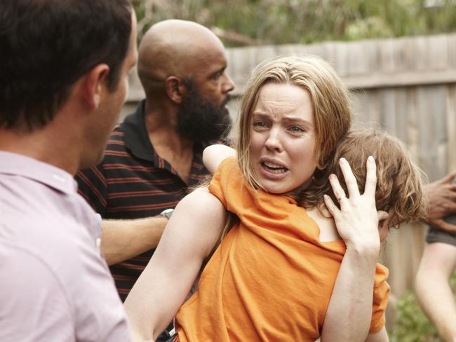 Melissa George starred in ABC's drama series The Slap, 2011.