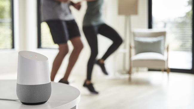 Google Home can play music and set timers — perfect for your workout.