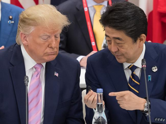 Donald Trump is in Osaka with Japan's Prime Minister Shinzo Abe for the annual G20 Summit.