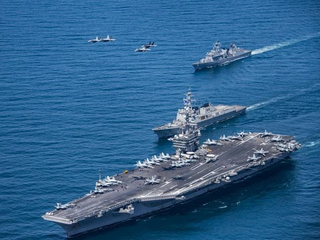 The US navy far outweighs its global rivals.