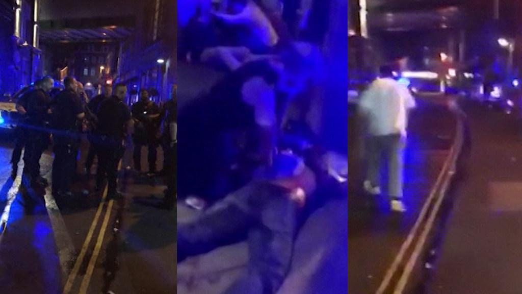 Dramatic footage of London's Borough Market attack