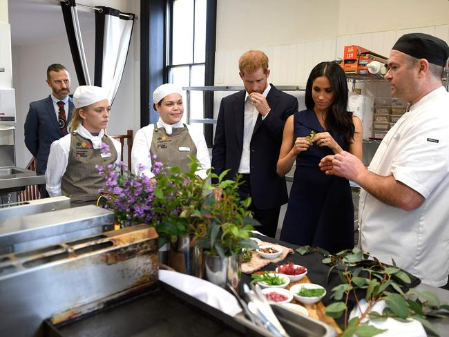 The Duchess of Sussex declined to eat finger limes, a native Australian food, during the couple's royal tour of Australia in October. Source: AFP