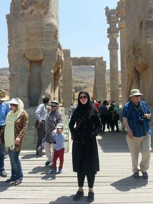 Suzie ran her outfits by a friend of a friend to make sure they were OK to wear in Iran.