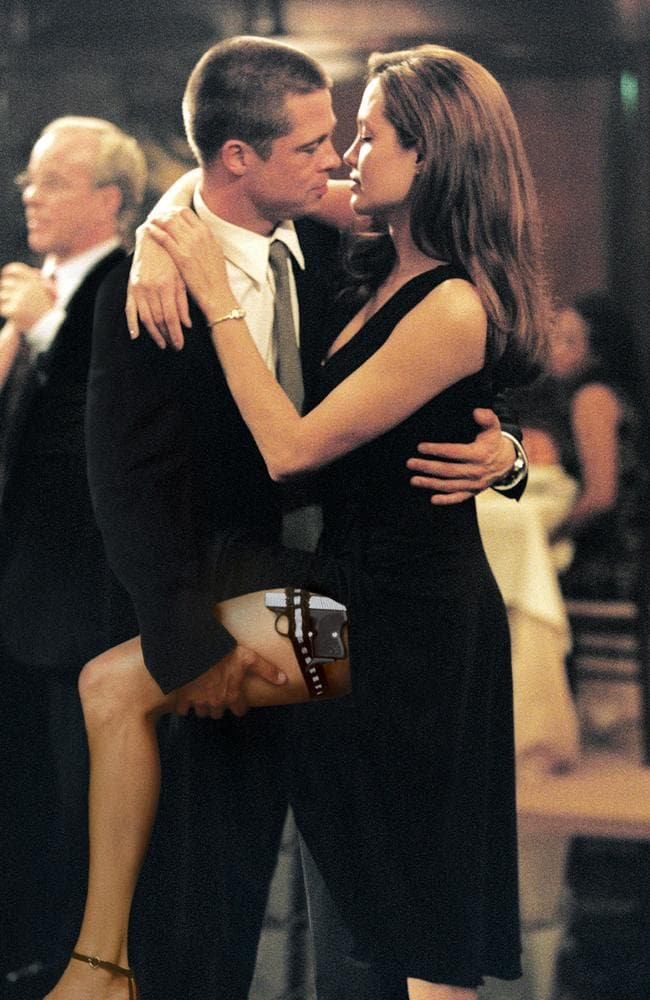 Brad Pitt and Angelina Jolie in 2005 movie Mr & Mrs Smith. Picture: AP Photo/Twentieth Century Fox, Stephen Vaughn