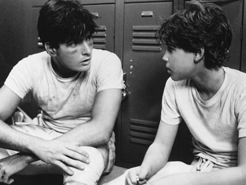 Charlie Sheen and Corey Haim in the 1986 movie Lucas. Picture: Supplied