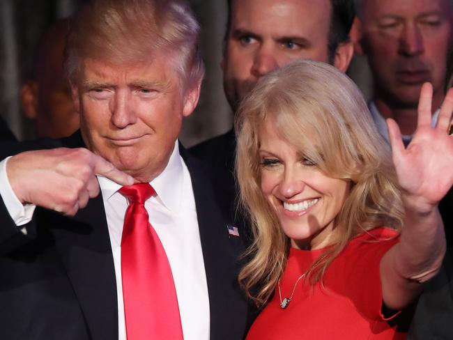 Kellyanne Conway has denied details of Malcolm Turnbull and Donald Trump's call was leaked by the White House. Picture: Mark Wilson/Getty Images/AFP