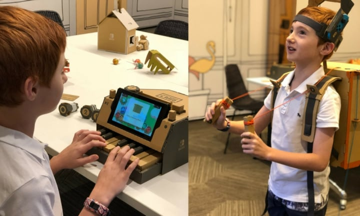 We tried the new Nintendo Labo and it's awesome