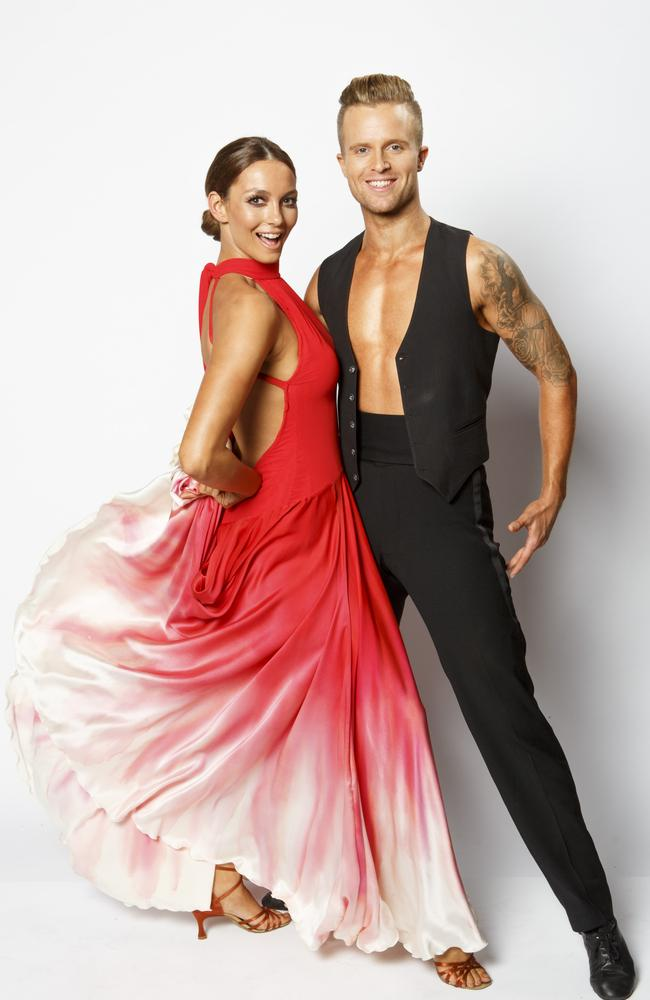 Voted out by viewers ... Ricki_Lee Coulter and dance partner, Jarryd Byrne, scored one perfect score but did not make the final two. Picture: Channel 7
