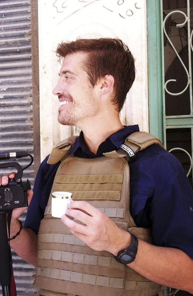 Family offered his headless corprse for $1 million ... US journalist James Foley, pictured in Aleppo, Syria, who was beheaded by the Islamic State extremist group. Picture: AP / freejamesfoley.org, Nicole Tung