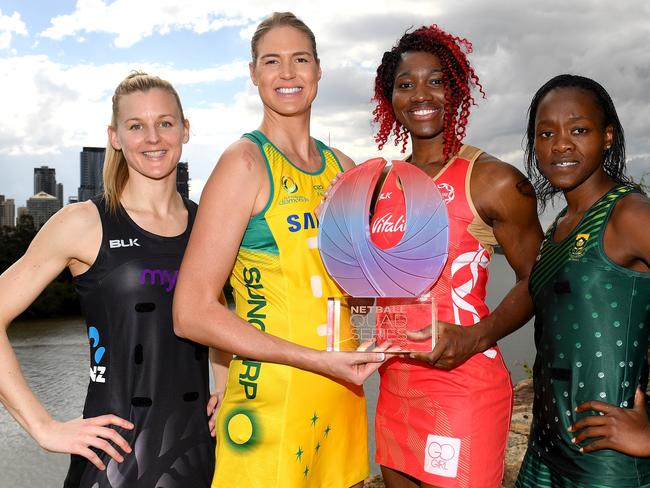 Captains from the top four netball nations in Australia last year.