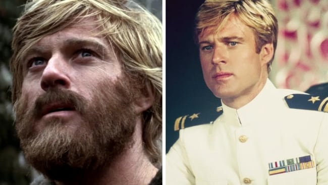 Redford in 'Jeremiah Johnson' v in 'The Way We Were'