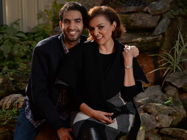 Anne Aly got into politics in part because of her son Adam Rida (pictured), who was a member of the Labor Party long before his mum.