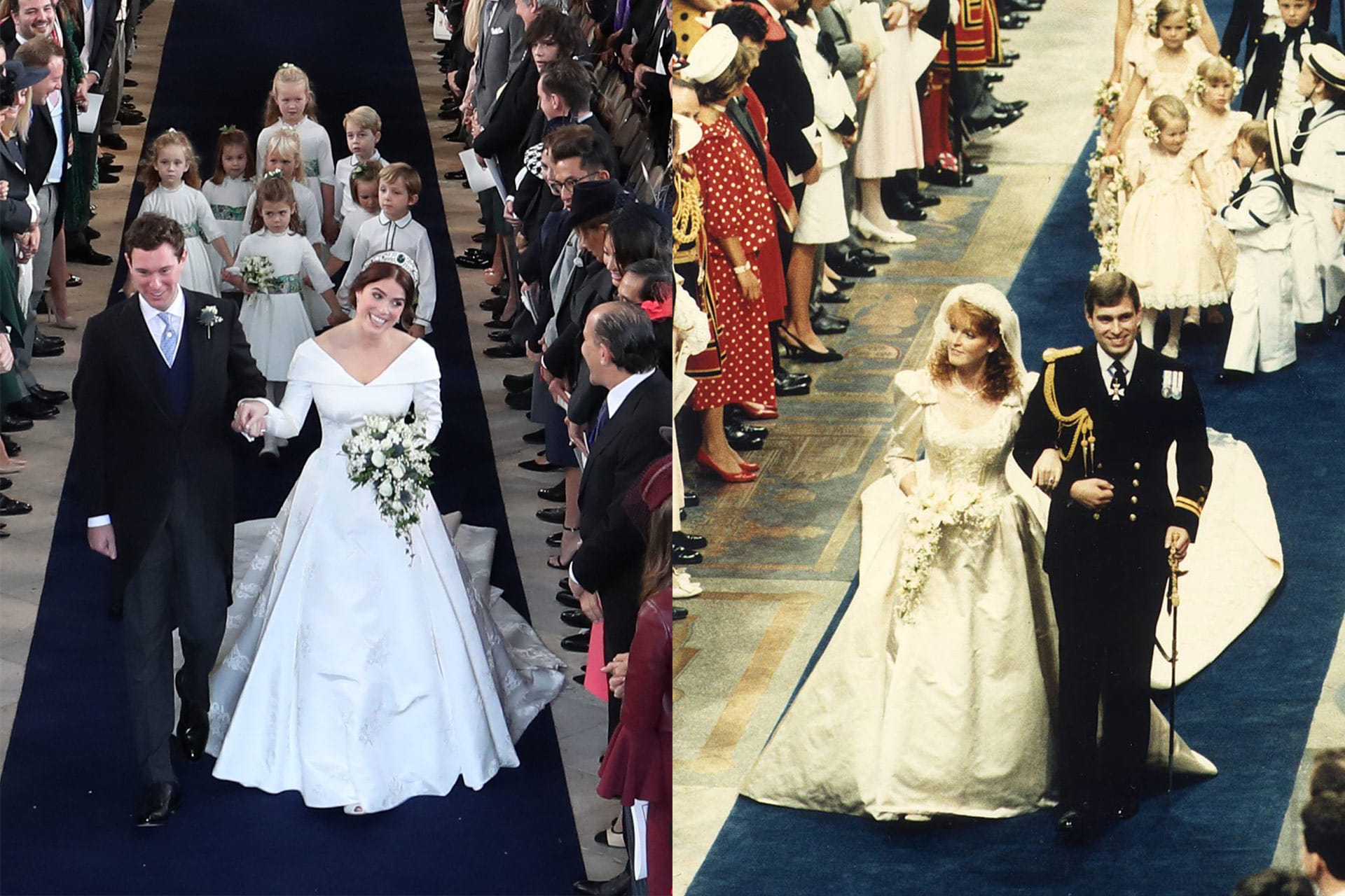 Princess Eugenie Wedding.Was Princess Eugenie Chanelling Her Mother With Her Wedding Dress