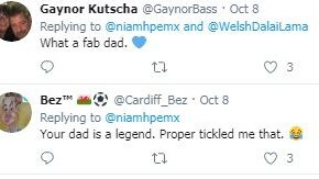 They branded the dad a 'legend'. Picture: Twitter/ Niamhpemx