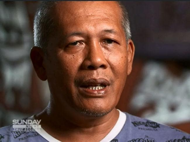 Wawa's foster father Kornelus Sembiring who saved him from certain death at the hands of his cannibal tribe. Picture: Channel Seven