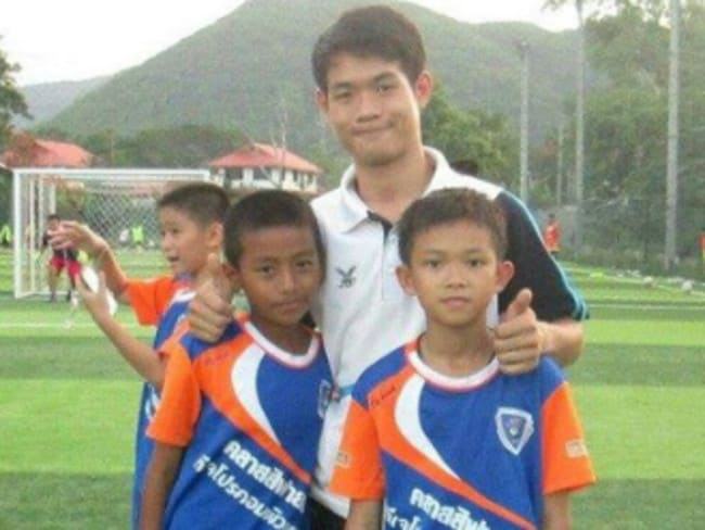 Some of the boys trapped with coach Ekapol Chanthawong have been playing in the team for years.