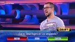 A contestant on a Spanish quiz show gave a wrong answer, despite it being printed on his shirt. Picture: Antenna3 TV