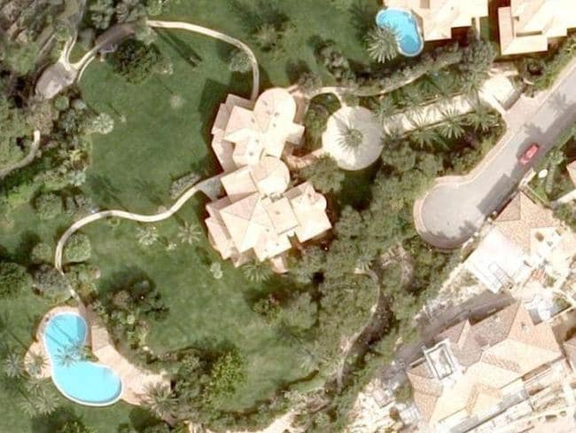 The Majorca mansion reportedly purchased by Michael Schumacher's wife. Picture: Google Earth.