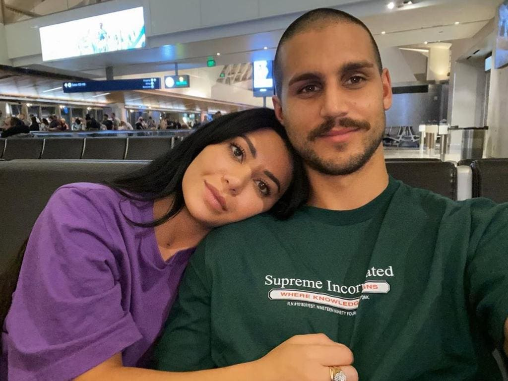 Martha and her boyfriend of one year Michael Brunelli recently travelled to Greece, Mexico and the States. Picture: Instagram/Martha Kalifatidis
