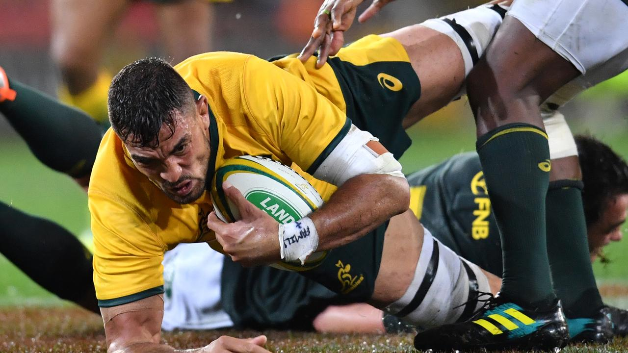 Rory Arnold of the Wallabies in action during a Rugby Championship match.