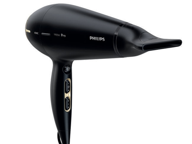 Small but powerful, hairdryers can suck up the watts if you use the hottest setting, but energy efficient models can mean big savings on the bills. Picture: Phillips.