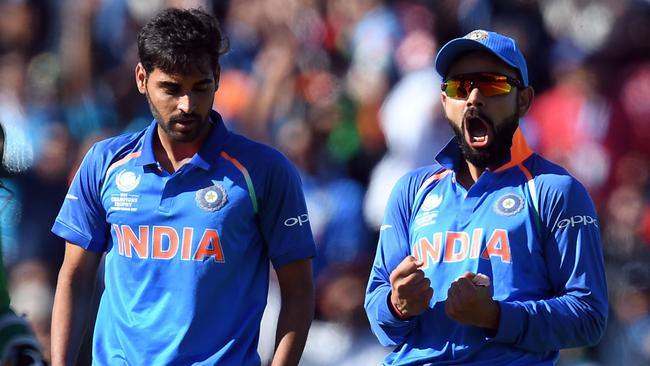 Virat Kohli (right) will no longer spruik Pepsi.