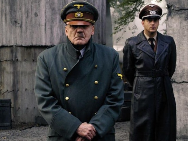 Bruno Ganz as Adolf Hitler with Heino Ferch as Albert Speer (right), in a scene from the film Downfall. Picture: Supplied