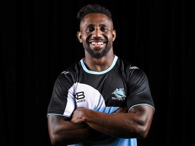 James Segeyaro still in Sharks colours.