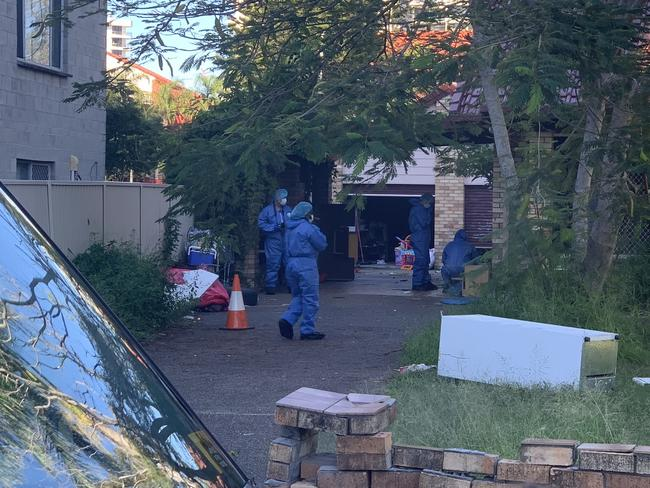 Forensic police carried out an extensive search of the dilapidated property.