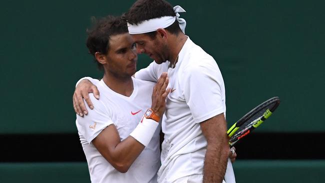 Wimbledon 2018 Rafael Nadal Sportsmanship Vs Juan Martin Del Potro Is All Class