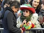 Meghan Markle meets the crowds during a visit with Britain's Prince Harry to Cardiff Castle in south Wales, Thursday Jan. 18, 2018. Picture: AP