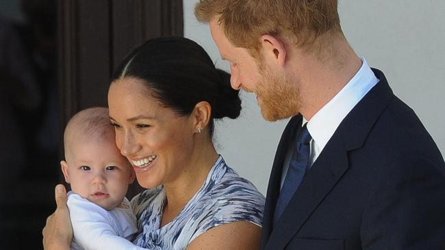 Archie was a popular addition to the royal tour. Picture: Henk Kruger/Pool/AFP