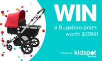 Win a brand new Bugaboo pram worth $1399