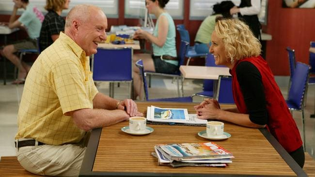 A home from home ... Alf (actor Ray Meagher) with Bridget (actress Joy Smithers) in Home and Away.