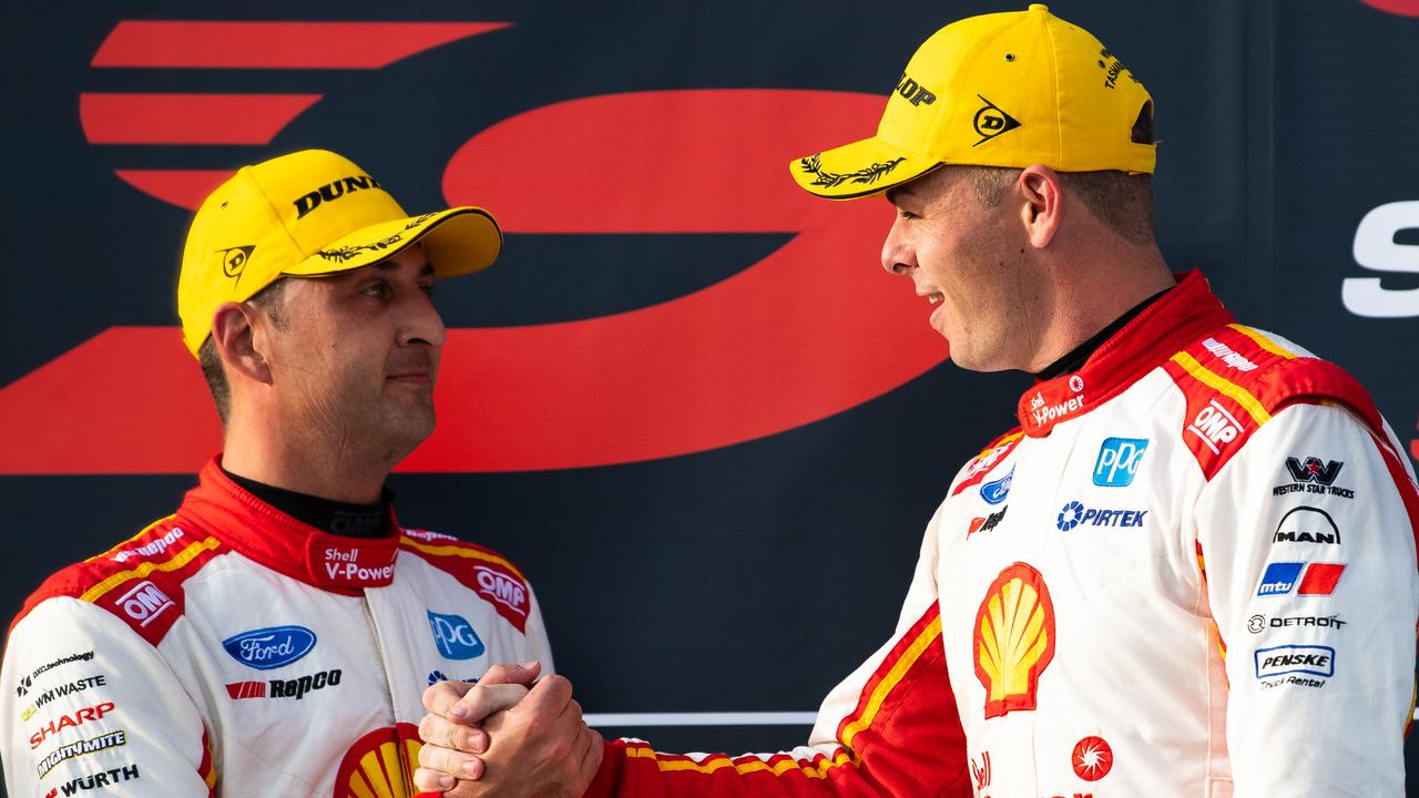 Fabian Coulthard and Scott McLaughlin are mates, as well as teammates. Picture: Daniel Kalisz