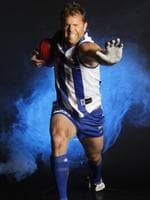 Glenn Archer in typical pose before his 300th game.