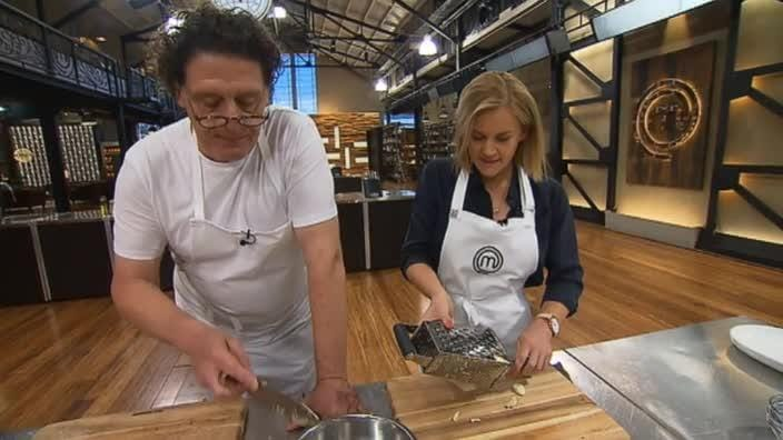 Marco Pierre White teaches us the secret to chopping garlic