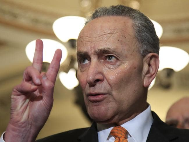 "Senate Minority Leader Chuck Schumer called Ryan Zinke ""toxic"". Picture: AP"