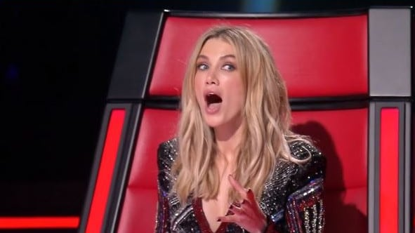 Goodrem's face said it all
