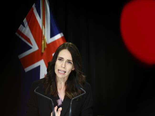 NZ Prime Minister Jacinda Ardern has announced stage four restrictions. Picture: Hagen Hopkins/Getty Images