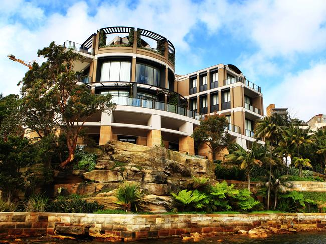 Mr Symond's home is on a massive 2675sqm waterfront block.