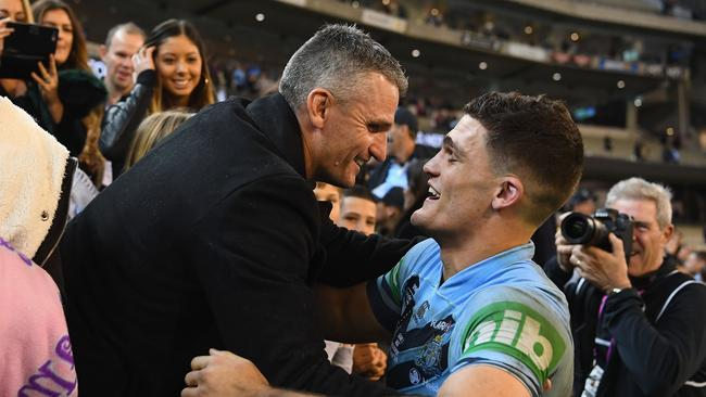 Nathan Cleary and father Ivan have expressed their interest at joining forces. (Photo by Quinn Rooney/Getty Images)